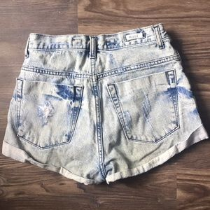 Brandy Melville Shorts - Brandy Melville High Waisted Distressed Shorts